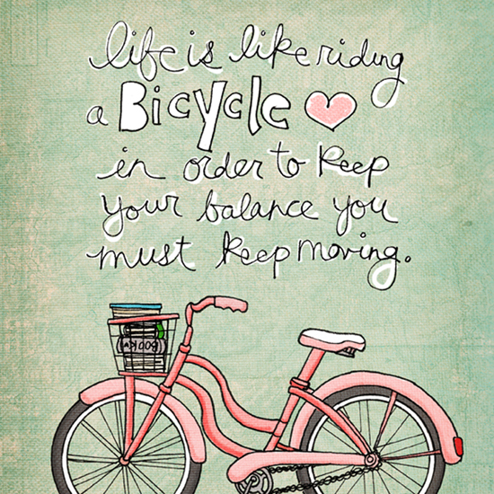life is like riding a bicycle blue sm
